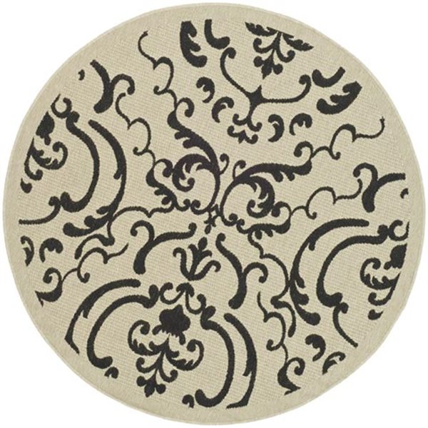 Safavieh CY2663-3901 Courtyard Indoor/Outdoor Area Rug, Blac