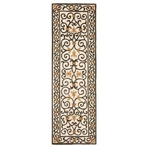 Safavieh Chelsea 30-in Ivory/Dark Brown Runner