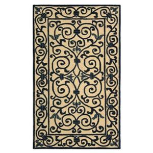 Safavieh Chelsea 30-in Ivory/Dark Blue Runner