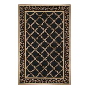 Safavieh Chelsea 30-in Black/Gold Runner