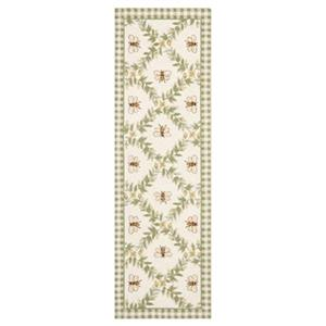 Safavieh Chelsea 30-in Ivory/Green Runner
