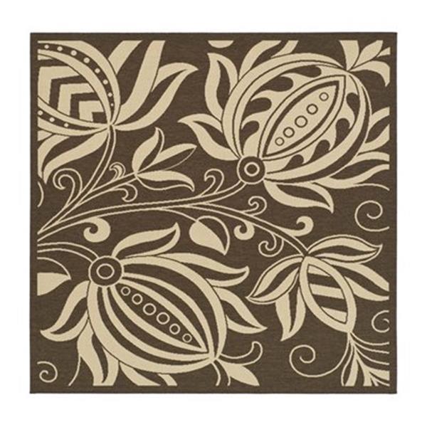 Safavieh CY2961-3409 Courtyard Area Rug, Chocolate / Natural