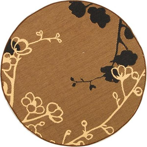 Safavieh CY4038D Courtyard Indoor/Outdoor Area Rug, Brown/Na