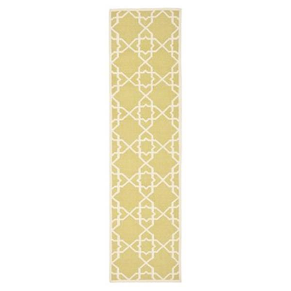 Safavieh Dhurries 30-in. Olive/Ivory Runner