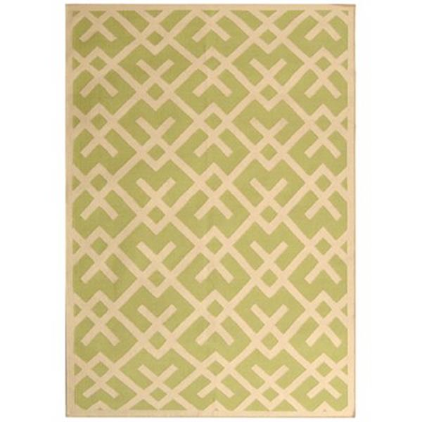 Safavieh Dhurries Light Green and Ivory Area Rug,DHU552A-4