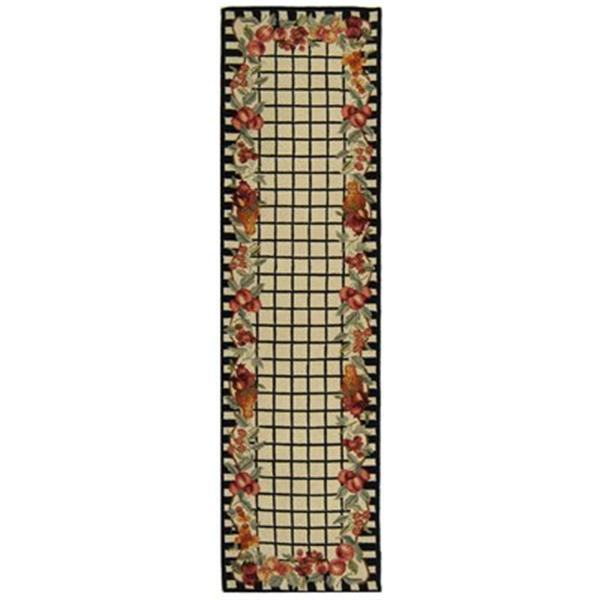 Safavieh Chelsea 30-in. Ivory/Black Runner