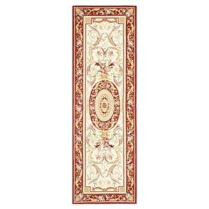 Safavieh Chelsea 30-in. Ivory/Burgundy Runner