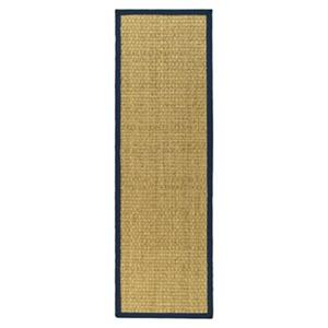 Safavieh Natural Fiber 30-in. Natural/Blue Runner