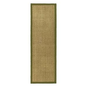 Safavieh Natural Fiber 30-in. Natural/Olive Runner