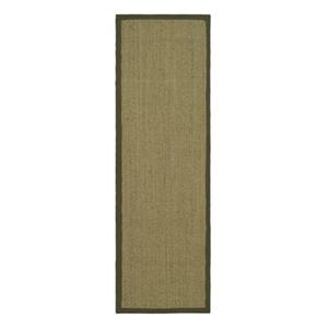 Safavieh Natural Fiber 30-in. Natural/Green Runner