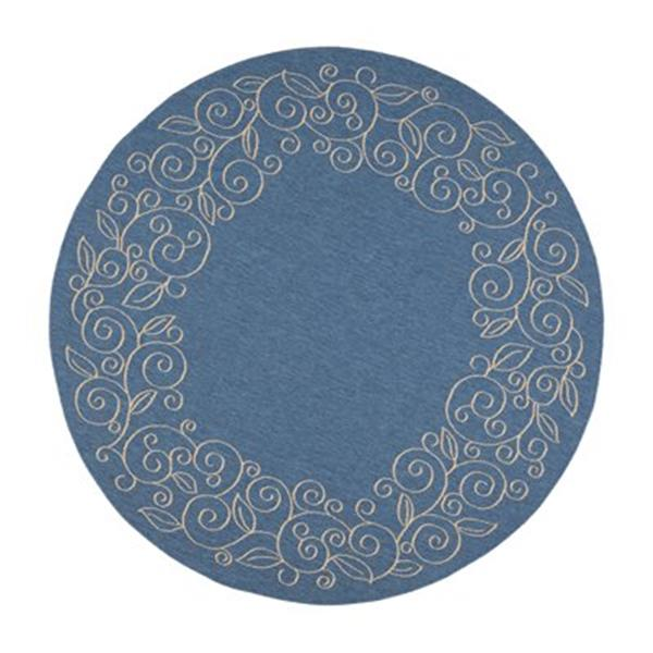 Safavieh Courtyard Blue and Beige Area Rug,CY5139C-7R