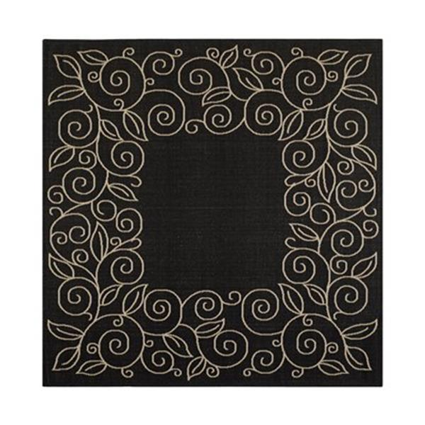 Safavieh CY5139D Courtyard Black and Beige Area Rug,CY5139D-