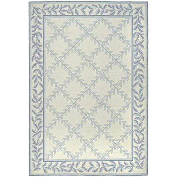 Safavieh DuraRug Ivory and Blue Area Rug,EZC430A-4