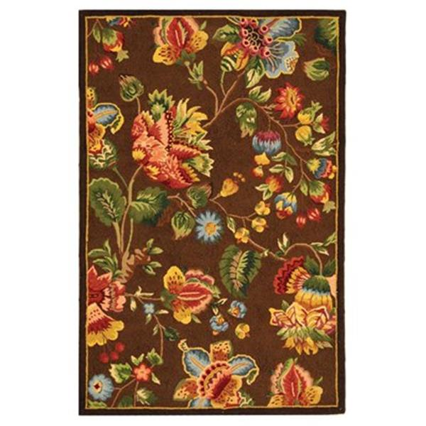 Safavieh HK331B Chelsea Area Rug, Brown,HK331B-4