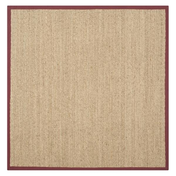Safavieh Natural Fiber Natural and Red Area Rug,NF115D-6SQ