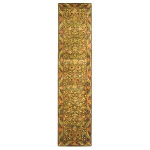 Safavieh Antiquities 27-in Gold/Green Runner