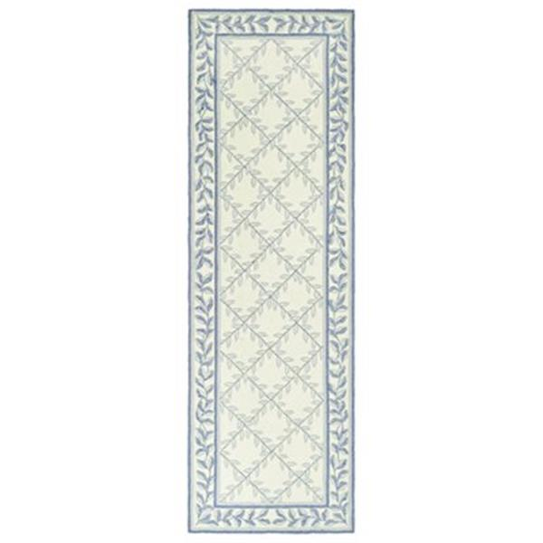 Safavieh DuraRug 30-in Ivory/Light Blue Runner
