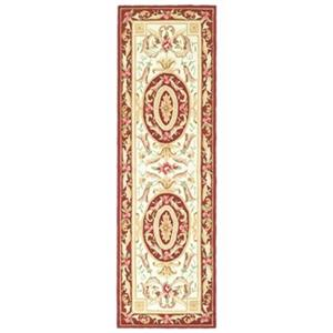 Safavieh DuraRug 30-in Ivory/Burgundy Runner