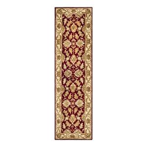 Safavieh Heritage 27-in Red/Ivory Runner