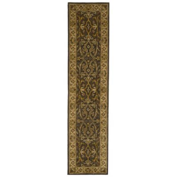 Safavieh Heritage 27-in Charcoal/Beige Runner