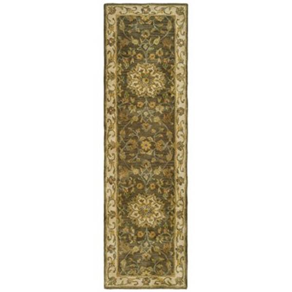 Safavieh Heritage  27-in Green/Taupe Runner