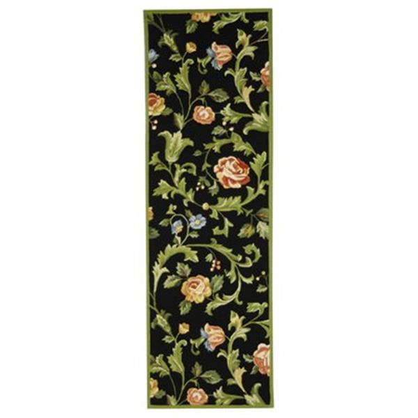 Safavieh Chelsea 30-in Black/Green Runner