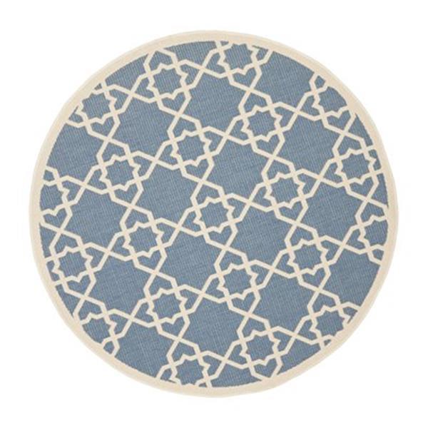 Safavieh CY6032-243 Courtyard Indoor/Outdoor Area Rug, Blue/