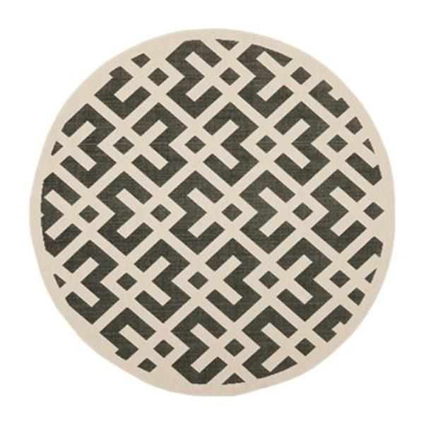 Safavieh CY6915-216 Courtyard Indoor/Outdoor Area Rug, Black
