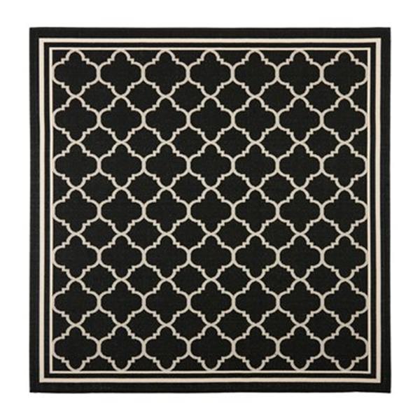 Safavieh CY6918-226 Courtyard Indoor/Outdoor Area Rug, Black