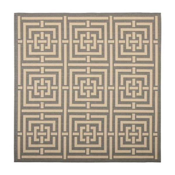 Safavieh CY6937-65 Courtyard Area Rug, Grey/Cream,CY6937-65-