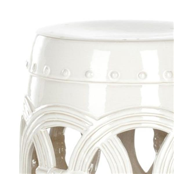 Safavieh Double Coin 17-in White Ceramic Garden Stool