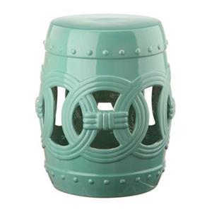 Safavieh Double Coin 17-in Light Blue Ceramic Garden Stool
