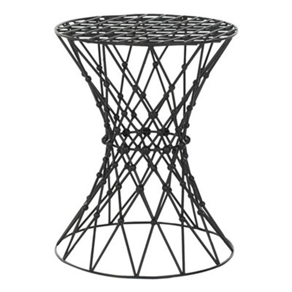 Safavieh Fox 17.5-in Black Charlotte Web Stool Table