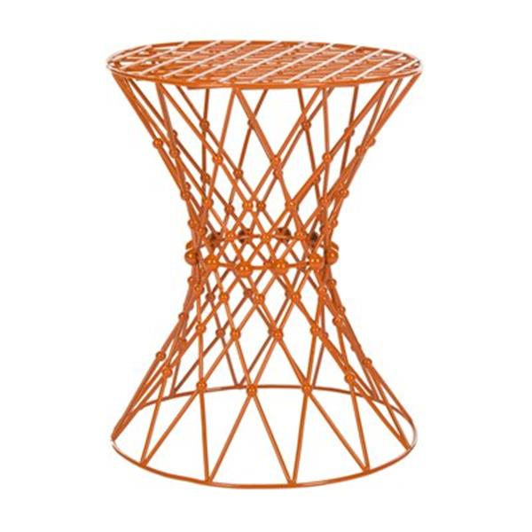 Safavieh Fox 17.5-in Orange Charlotte Web Stool Table