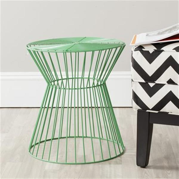 Safavieh Fox 17.3-in Green Adele Iron Wire Stool Table