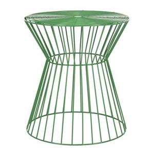 Safavieh Fox 17.3-in Green Adele Iron Wire Stool Table