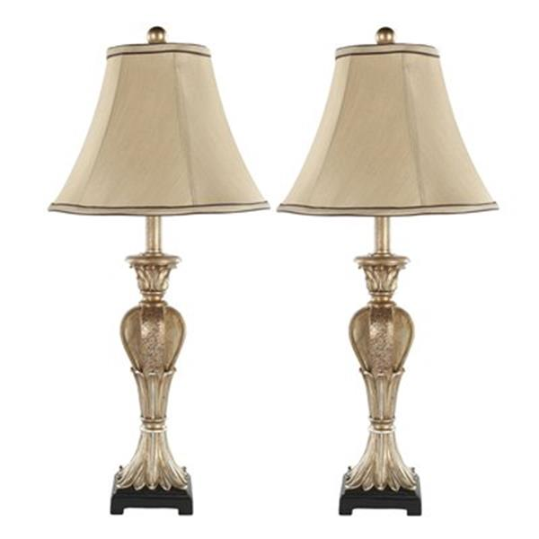 Safavieh 28-in Distressed Gold Patrizia Urn Lamps (Set of 2)