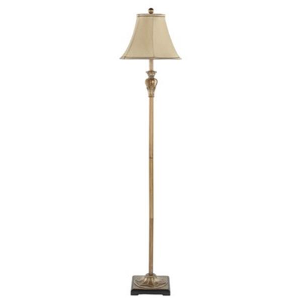 Safavieh 61-in Distressed Gold Paola Floor Lamp