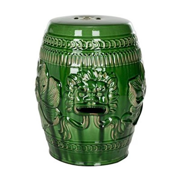 Safavieh Chinese Dragon 18-in Dark Green Ceramic Garden Stool