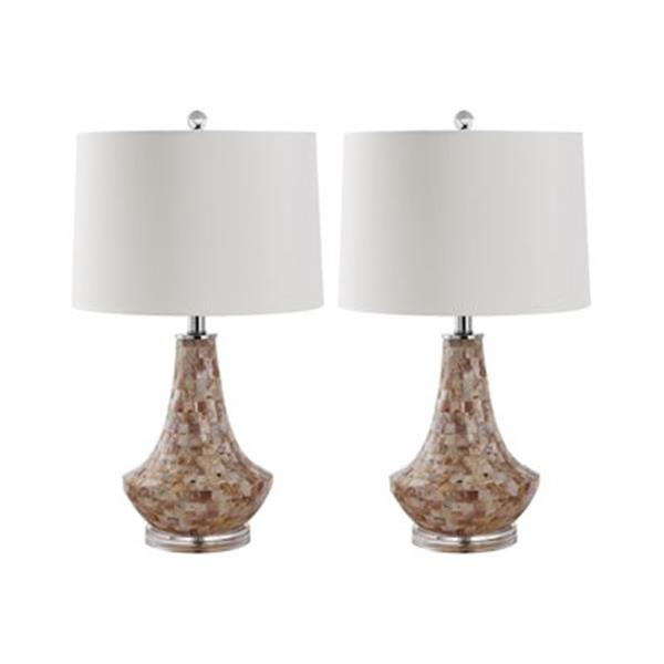 Safavieh 24-in Shell Kobe Table Lamps (Set of 2)
