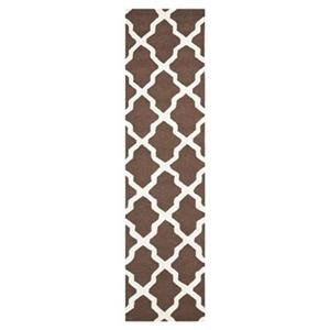 Safavieh Cambridge 30-in Dark Brown/Ivory Runner