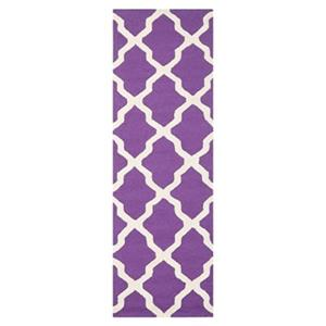 Safavieh Cambridge 30-in Purple/Ivory Runner