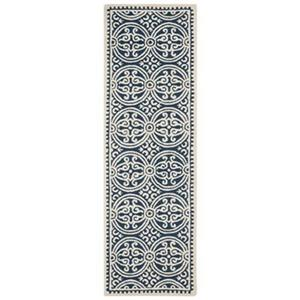 Safavieh Cambridge 30-in. Navy/Ivory Runner
