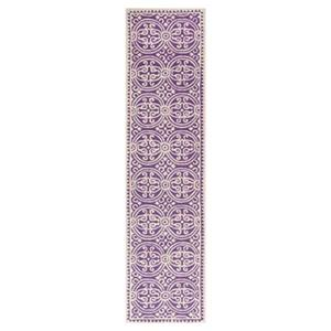 Safavieh Cambridge 30-in. Purple/Ivory Runner
