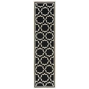 Safavieh Dhurries 30-in. Black/Ivory Runner