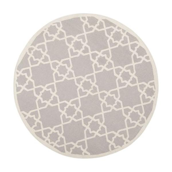 Safavieh DHU548G Dhurries Grey and Ivory Area Rug,DHU548G-4