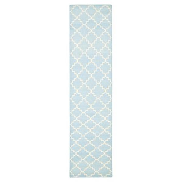 Safavieh Dhurries 30-in. Light Blue/Ivory Runner