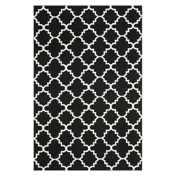 Safavieh Dhurries Black and Ivory Area Rug,DHU554L-4