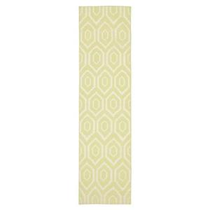 Safavieh Dhurries 30-in. Green/Ivory Runner