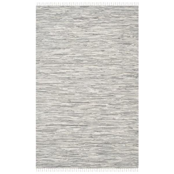 Safavieh MTK753A Montauk Area Rug, Silver,MTK753A-5